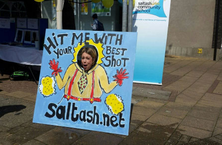 Saltash.net gets sponged at May Fair