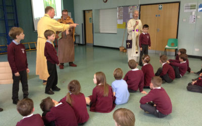 Legend of St Neot brought to life for Dobwalls pupils