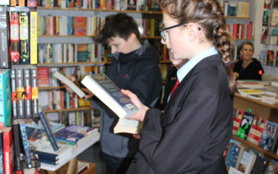 Liskeard School and Community College – Y8 Students select books in preparation for book review