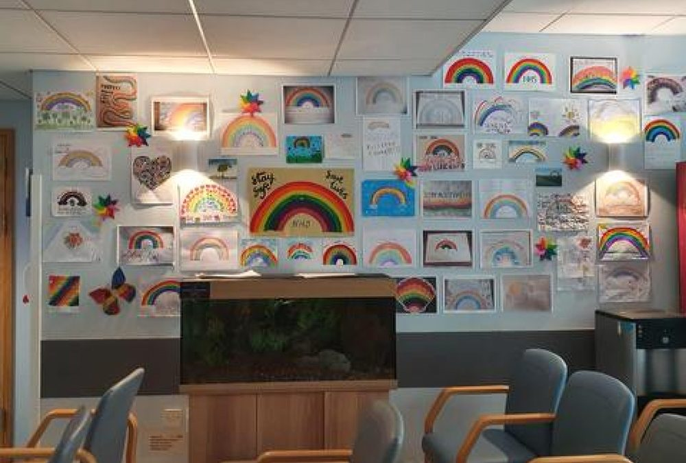 Liskeard School students create 'rainbow messages' for ITU patients