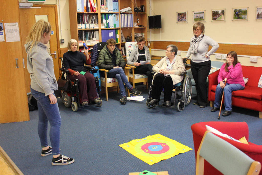 Liskeard Sixth Formers run a session at the Echo Centre