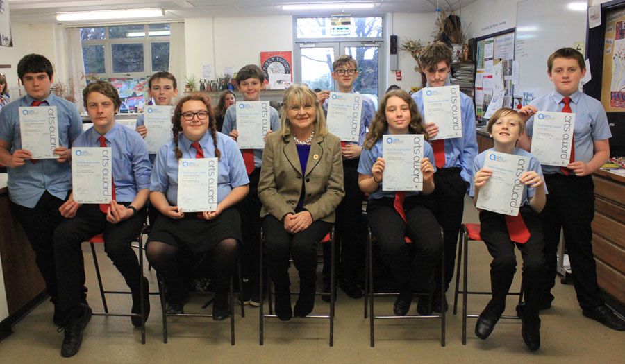 Students receive Cornwall Heritage Trust Awards for language projects