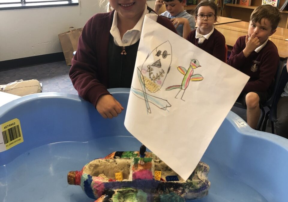 Year 1 boat building challenge at Dobwalls Primary