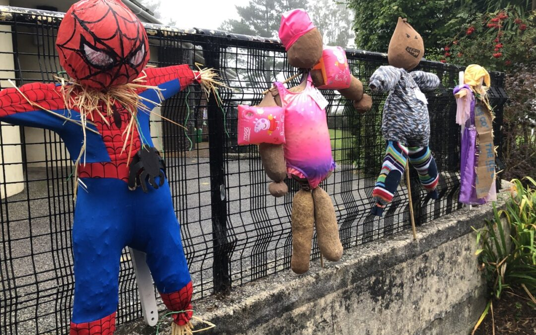 Scarecrows appear at Dobwalls Community Primary School